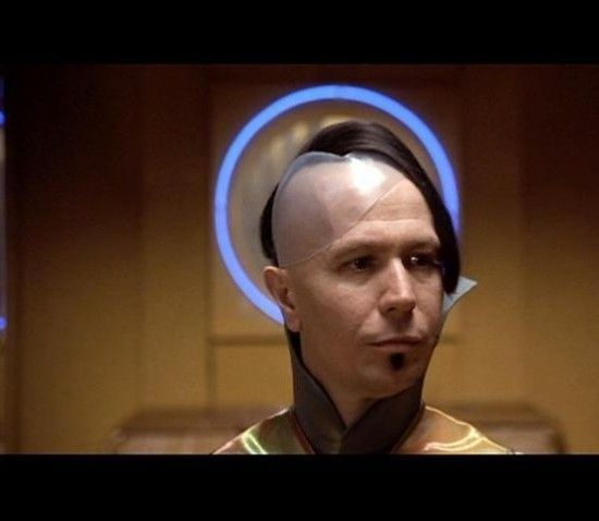 Every time I see a girl with the side of her head shaved I think of Gary Oldman from The 5th Element.