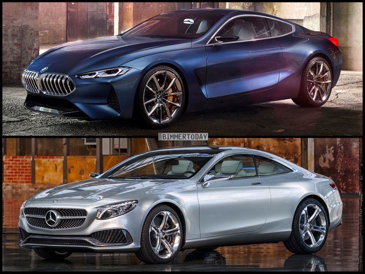 Photo Comparison: BMW 8 Series Concept vs Mercedes-Benz S-Class Coupe Concept - http://www.bmwblog.com/2017/06/05/photo-comparison-bmw-8-series-concept-vs-mercedes-benz-s-class-coupe-concept/