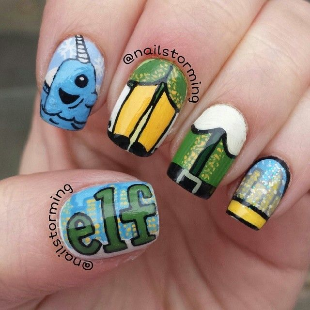 Christmas Nails Elf: 149 Best Images About Christmas Nail Art On Pinterest
