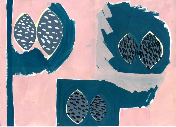 """Laikku"", original artwork by Erja Hirvi for Samuji SS16"