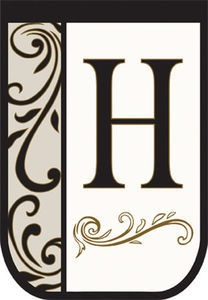 Double Applique Monogram Decorative Garden Flag - Letter H