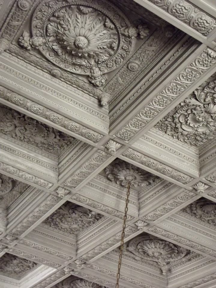 127 best ceilings images on pinterest castles abandoned for Coffered ceiling detail