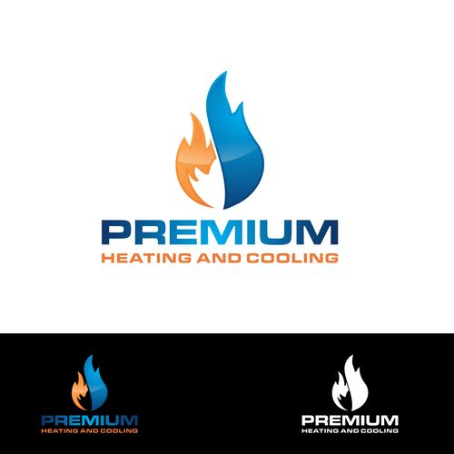 Premium Heating And Cooling Pty Ltd Logo For A Heating And