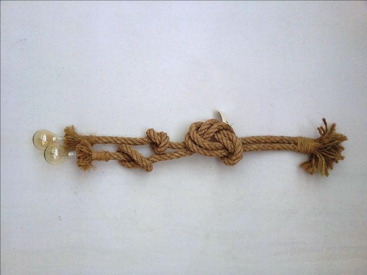 Lampara cuerda 2 bombilla 2,5 metros de CuerdaElectrica en Etsy