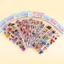 Morestyle 10 unids batman spiderman superman de dibujos animados de pvc pegatinas de pared de los vengadores juguetes para niños de cumpleaños decoraciones del partido del favor del regalo(China (Mainland))