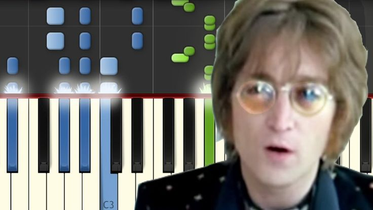 Imagine / John Lennon / Piano Tutorial / Synthesia / Notas Musicales