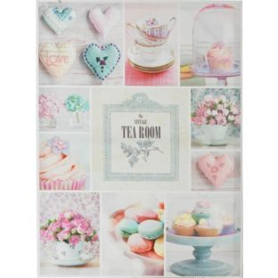 Buy Heart of House Tea Room Montage Canvas at Argos.co.uk - Your Online Shop for Pictures and wall art.