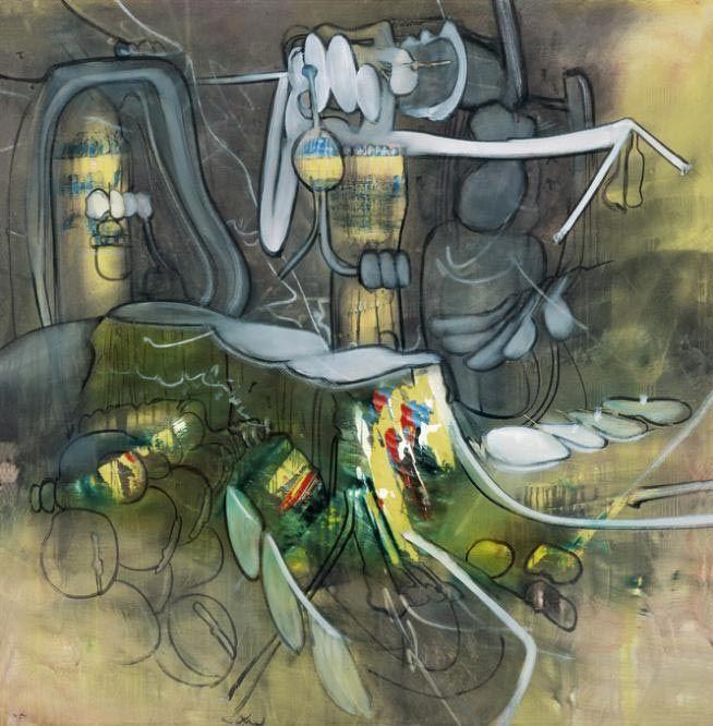 Roberto Matta, L'Honni aveuglant (El proscrito deslumbrante), Oleo sobre lienzo, 200 x 195cm ©