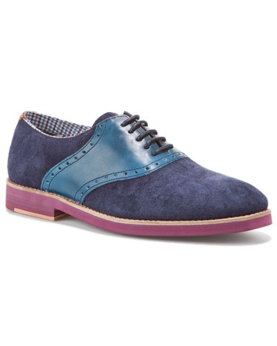 """Ted Baker Men's """"Lapilli"""" Suede & Leather Oxford"""