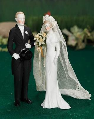 1920's wedding cake toppers (attributed to Hertwig)