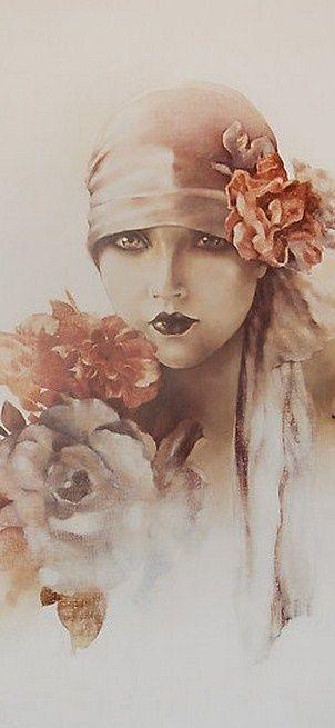 I ❤ MARRON ♥ Art Deco Lady