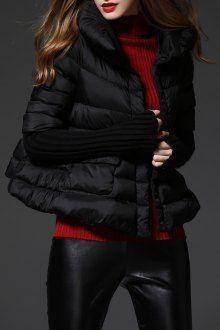 short cape down jacket