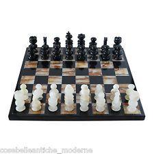 Scacchiera in Marmo Nero e Onice Verde Marble Chess Set Classic Home Design
