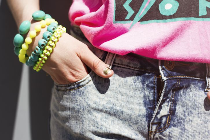Pink Vibe | FASHION IS MY RELIGION | photo by Alex C.D. | www.fashionismyreligion.ca | #chartreuse #turquoise