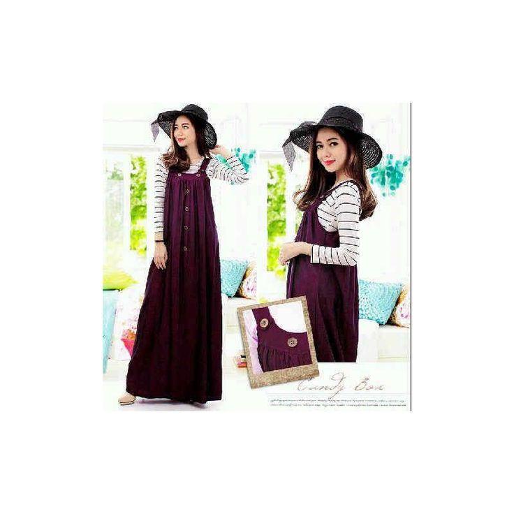 Jual Baju HO Overall Pinny Silk Marun TA - Pusat Grosir Baju Metro Tanah Abang