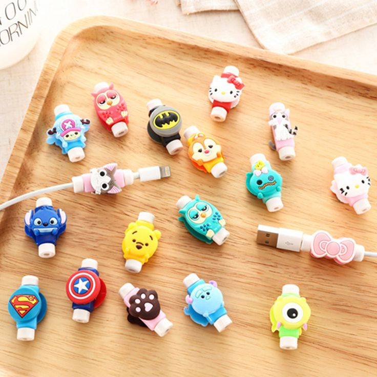 3D Cartoon Cable Protector Cord Protector Protective Sleeves Cable Winder Cover For iPhone iPad USB Charging Cable Free Shipping-in…