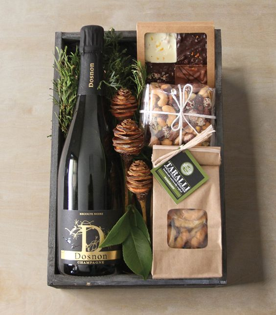 Sparkling Crate: Winston Flowers' Gourmet Gift Collection.