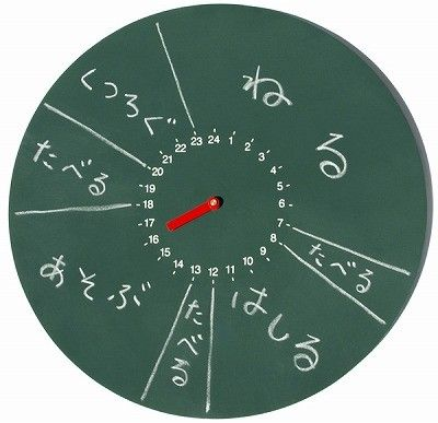 気分は小学生!? 1日の予定を書き込める時計「じこくばん」
