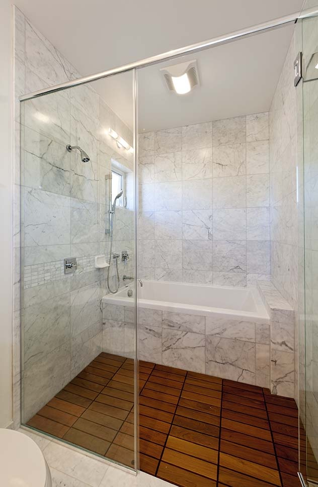Custom bathroom for a home in Pacific Palisades, Oahu, Hawaii