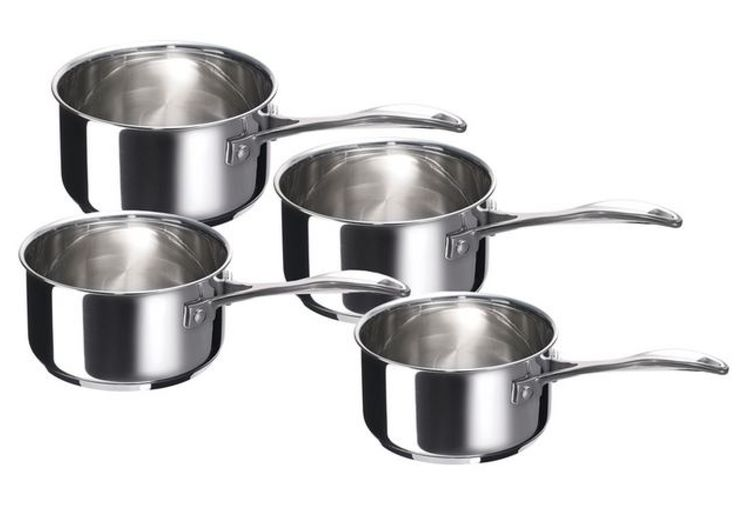 A set of 4 basic saucepans for the culinary chef.