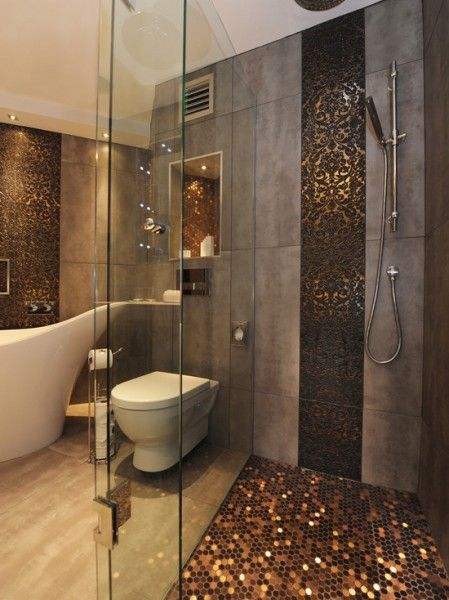 Gold Mosaic Shower. 17 Best images about building b on Pinterest   Copper  Mosaics and