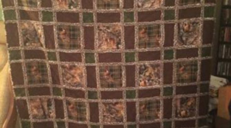 Real Tree Camo Hunting Rag Quilt