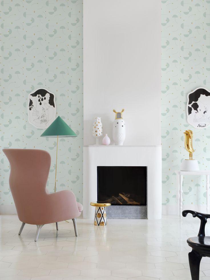 Eco Wallpaperin Jaime Hayon -mallistossa on uusia ja jännittäviä kuvioita, mutta sen lisäksi meillä sisustajilla on ainutlaatuinen mahdollisuus osallistua sellaisten kuosien luomiseen, joilla haluamme tapetoida seinämme. Malliston on suunnitellut espanjalainen Jaime Hayon, yksi maailman tämän hetken arvostetuimmista suunnittelijoista. #Värisilmä #tapetti #wallpaper