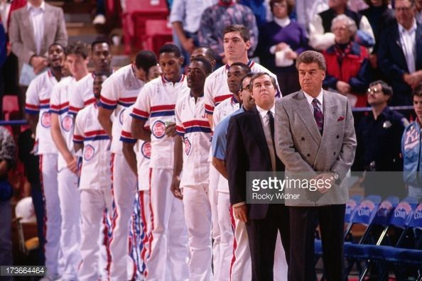 Fotografia de notícias : Head Coach Chuck Daly and the Detroit Pistons...