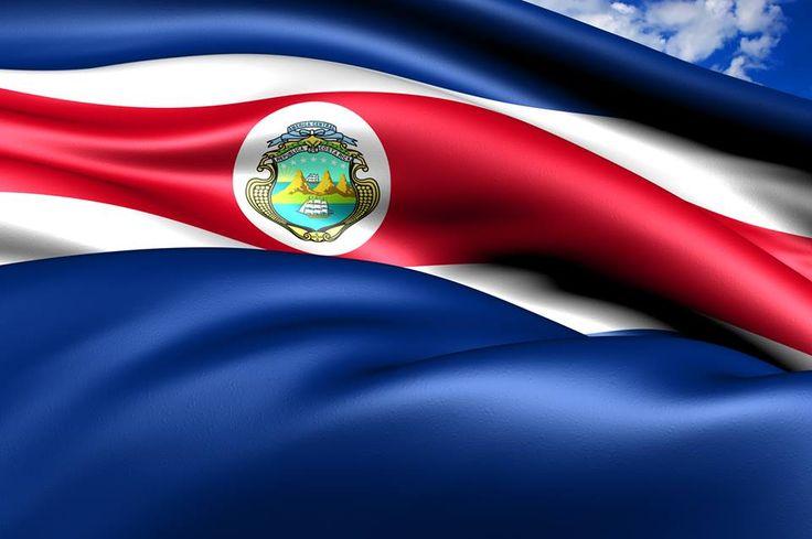 La bandera de Costa Rica