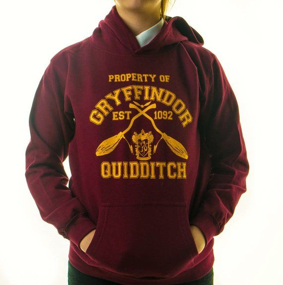 Harry Potter Kid S Hoodie Inspired Gryffindor Quidditch Team Jumper Childrens Hoody Jumper In 2020 Harry Potter Hoodie Kapuzenpullover Und Harry Potter Kleidung
