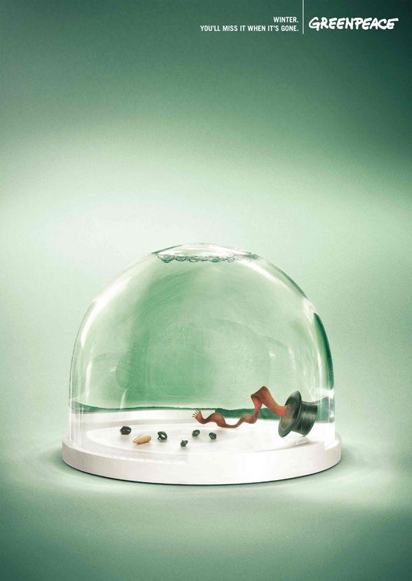 5. Greenpeace: 冬、それがなくなったら寂しくなるだろう