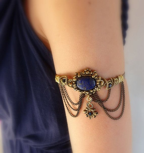Victorian Upper Arm Cuff Bracelet/Armlet With by MayaHandmade, $65.00
