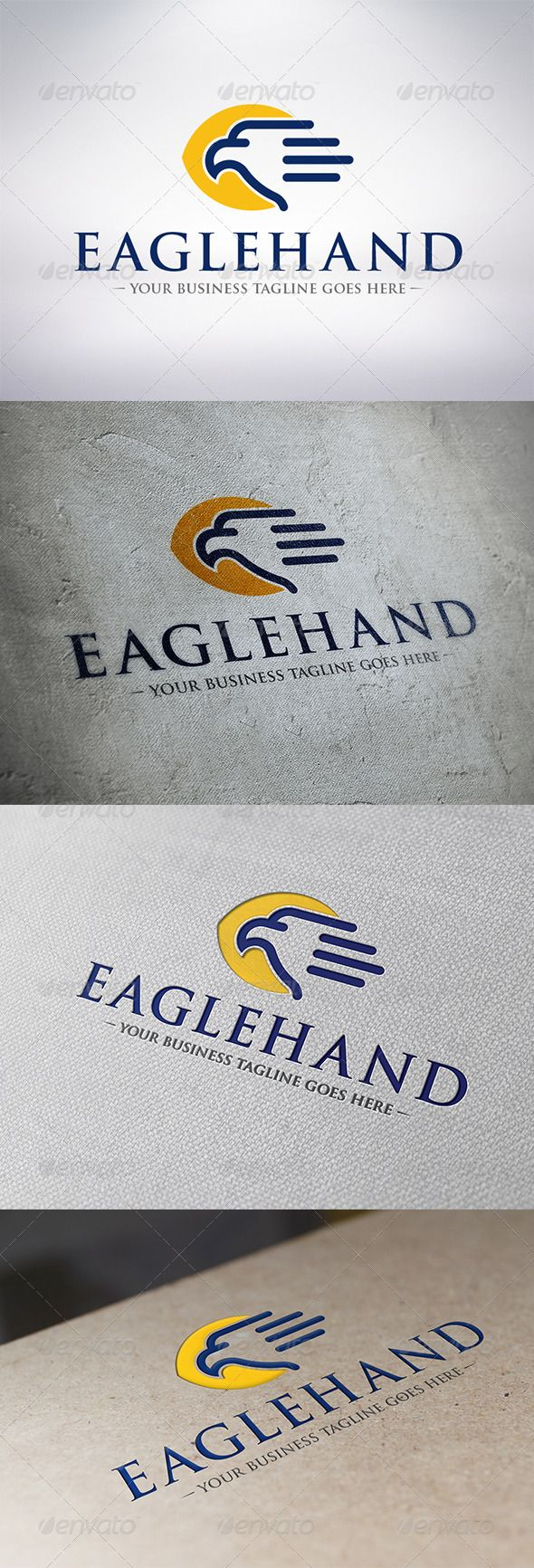 Eagle Hand  Logo Design Template Vector #logotype Download it here: http://graphicriver.net/item/eagle-hand-logo-template/6314023?s_rank=545?ref=nesto
