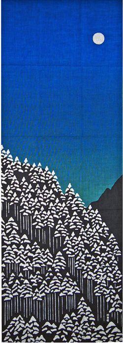 鎌倉香紙堂 / 濱文様の絵てぬぐい 北山杉