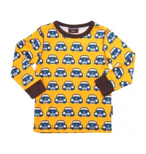 Maxomorra Retro Cars Long Sleeved T-Shirt