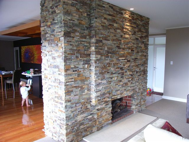 How to fix stacked stone veneer to a wall using norstone rock panels
