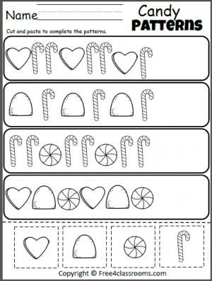 Free Candy Patterns Cut and Paste.  Great for Christmas and winter holidays.