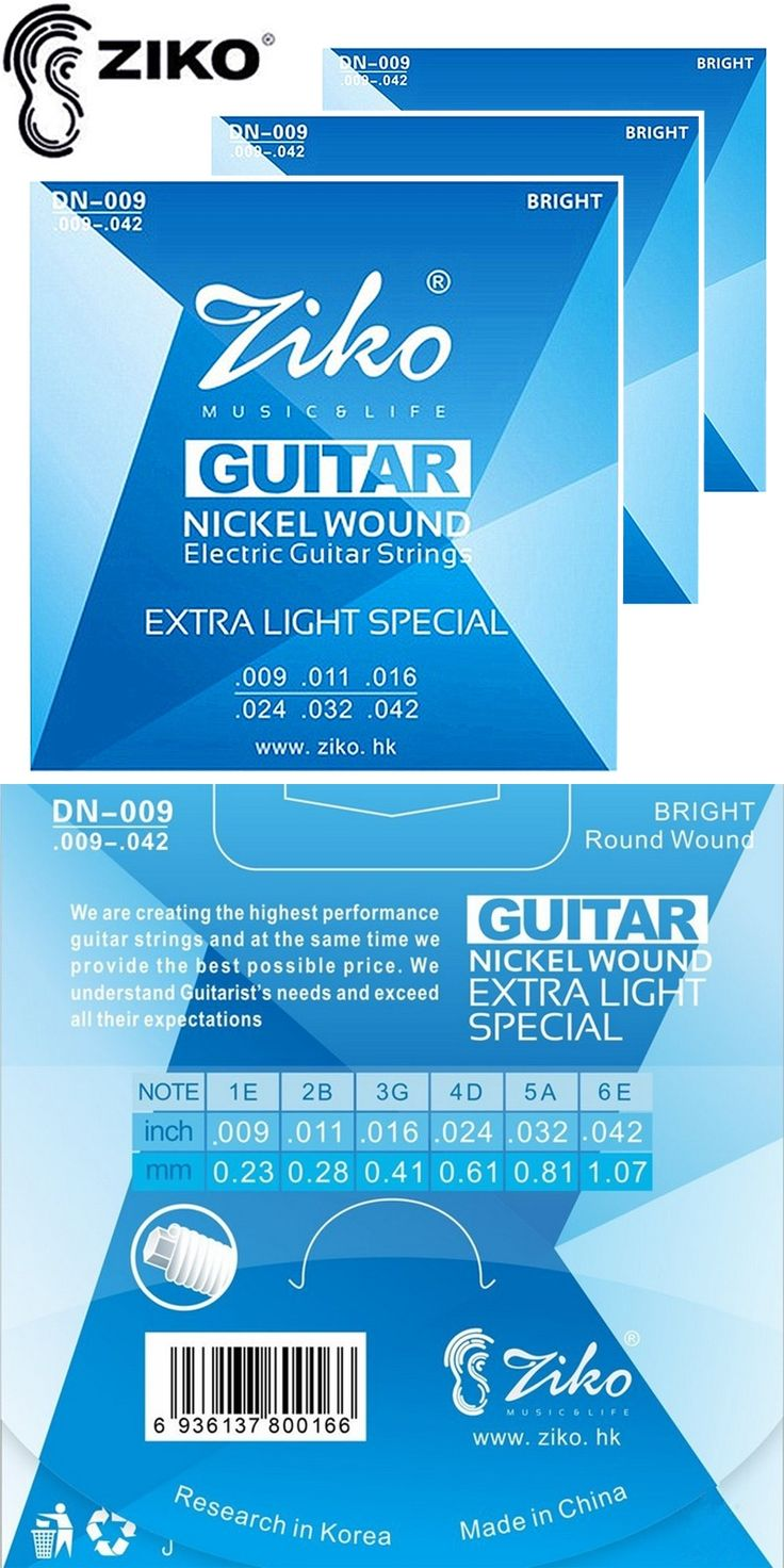 ZIKO DN-009 Electric Guitar strings .009-.042 strings guitar parts musical instruments Accessories 3sets/lot
