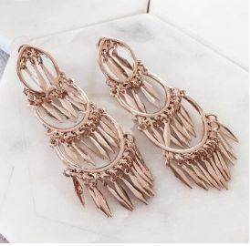 The Brush It Off Earrings in Gold - Available now at www.tealandtala.com.au