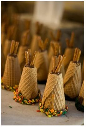 tee pee cupcakes - a student in my praticum class made these so yummy and cute for thanksgiving