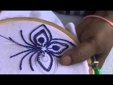 Hand Embroidery: Flowers (Basket) - YouTube
