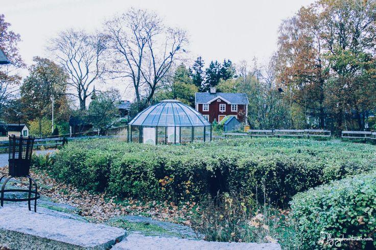 Skansen à Stockholm en automne