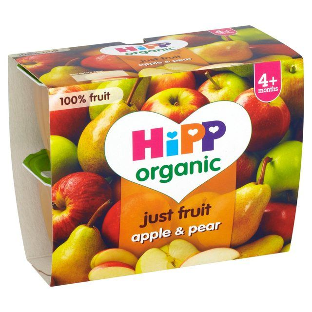 HiPP Organic Baby Food Just Fruit Apple & Pear 400g