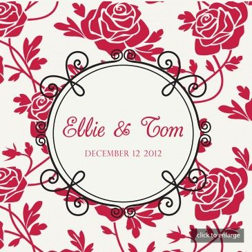Rich Red Roses Wedding Invitations