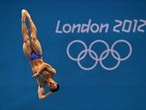 Chinese diver Kai Qin trains ahead of competition