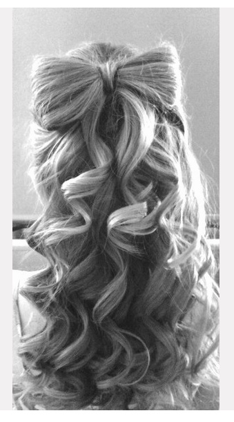 Lovely bow hair do, must learn how! Gorgeous