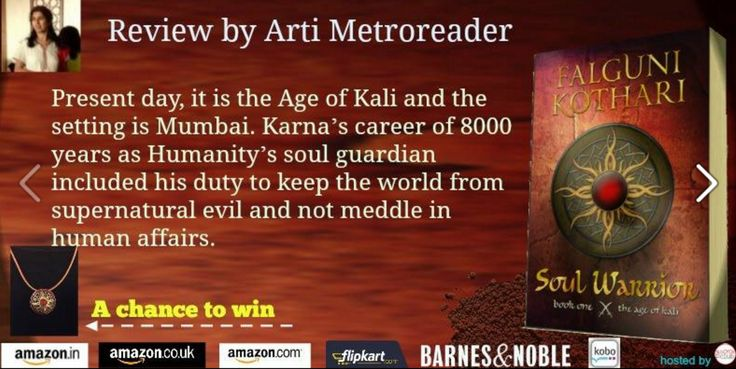 @metro_reader #review #Soul Warrior @TheAgeofKali by Falguni Kothari @F2tweet#Mythology #fantasy  https://www.facebook.com/TheBookClubBlogTours/photos/pb.118778198317770.-2207520000.1454570618./446922152170038/?type=3&theater