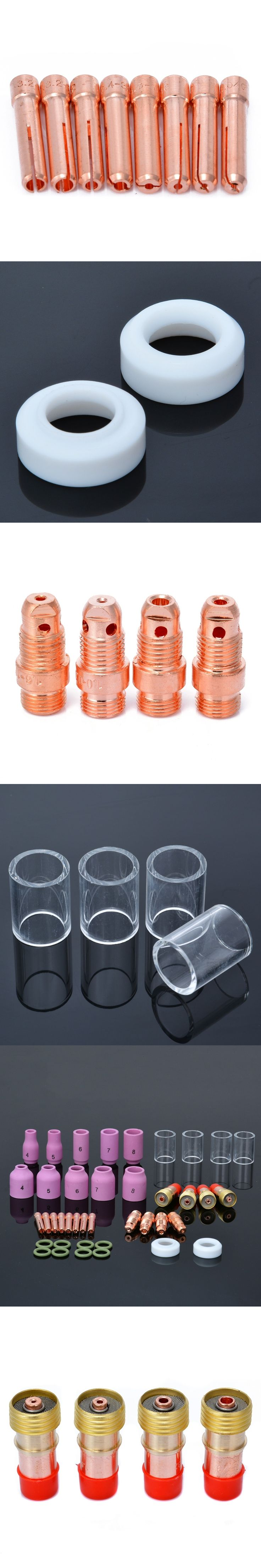 40pcs Mayitr #10 Pyrex Glass Cup + Stubby Gas Lens Welding Torch Kit Set For Tig WP-17/18/26