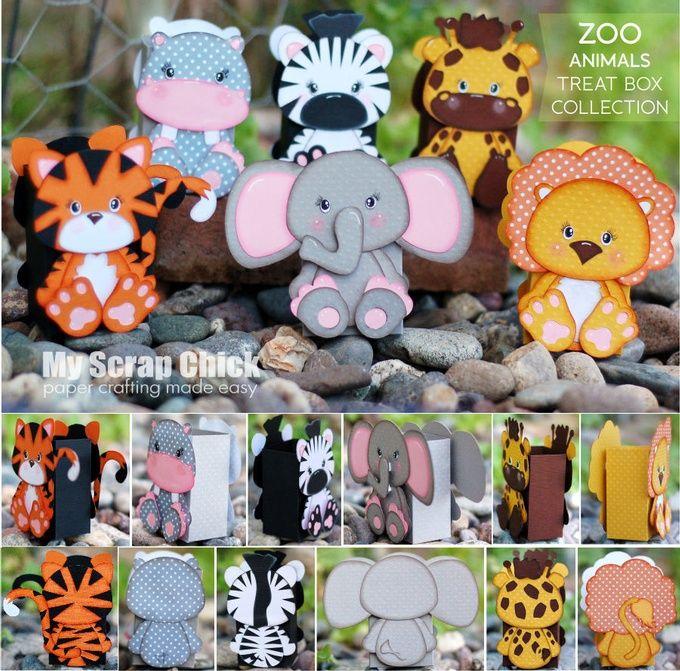 Zoo Animal Treat Box Collection
