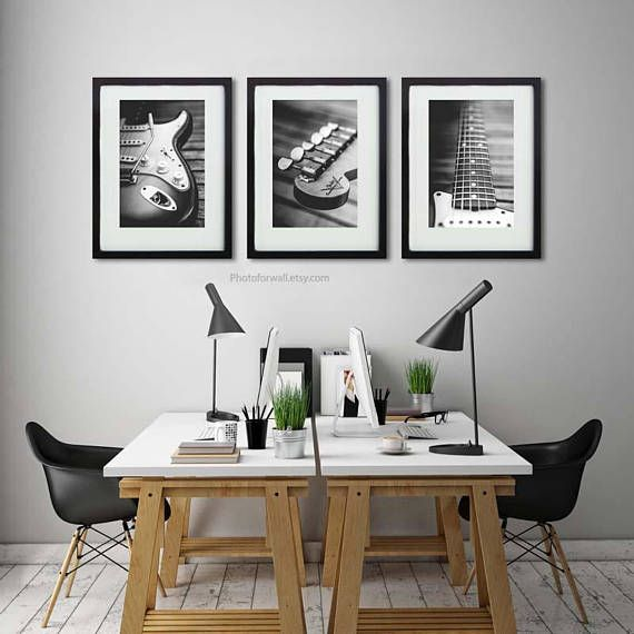 Black And White Prints With Music Wall Art For Office Wall Decor